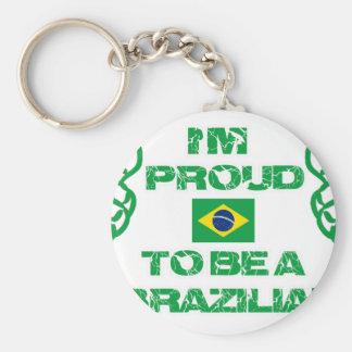 Brazilian Design Basic Round Button Keychain
