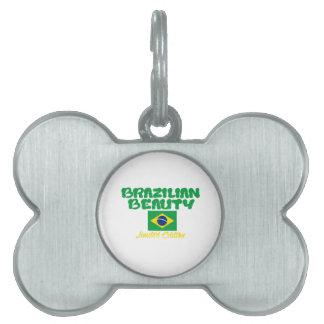 Brazilian  designs pet name tag