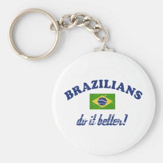 Brazilian do it better basic round button keychain