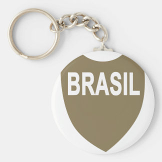 Brazilian Expeditionary Force Basic Round Button Keychain