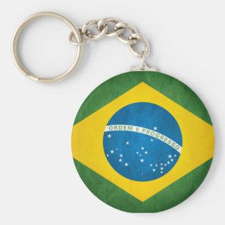 Brazilian Flag Basic Round Button Keychain