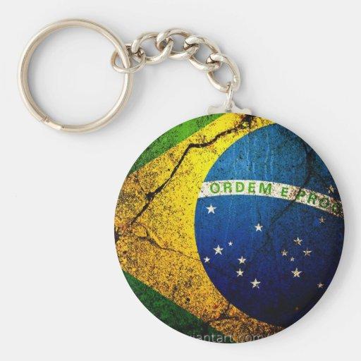 brazilian_flag_ basic round button keychain