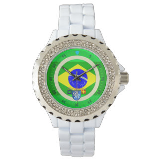 Brazilian Flag Brazil Port Richman Nautical Wristwatch
