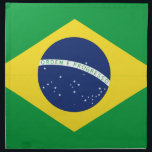 "Brazilian flag cloth napkin<br><div class=""desc"">Brazilian flag</div>"