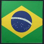 """Brazilian flag cloth napkin<br><div class=""""desc"""">Brazilian flag</div>"""