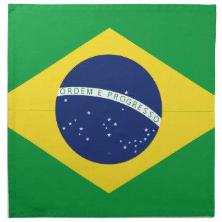 Brazilian flag cloth napkin