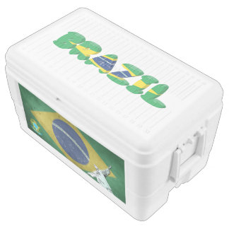 Brazilian flag cooler