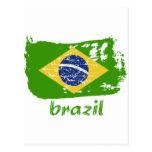 Brazilian flag designs post card