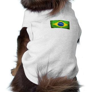 Brazilian flag dog top