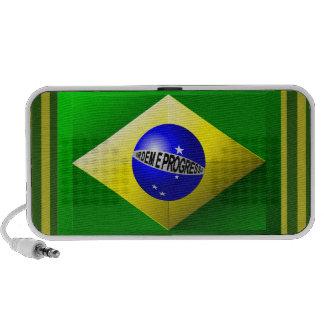 Brazilian Flag Doodle Speaker