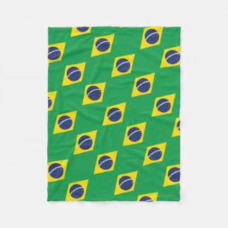 Brazilian Flag. Fleece Blanket