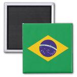 Brazilian flag fridge magnet