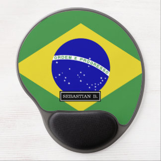 Brazilian Flag Gel Mouse Pad