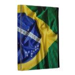 Brazilian flag iPad folio cases