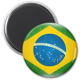 Brazilian_Flag 2 Inch Round Magnet