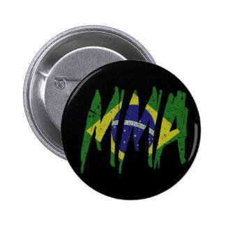 Brazilian Flag MMA Pinback Buttons