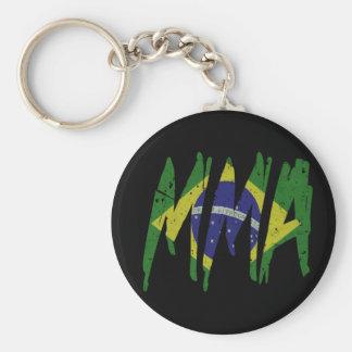 Brazilian Flag MMA Keychain