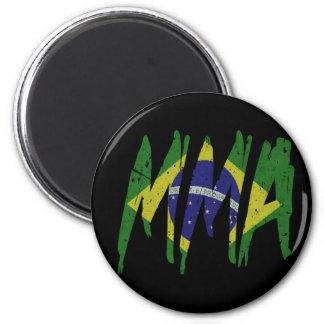 Brazilian Flag MMA 2 Inch Round Magnet
