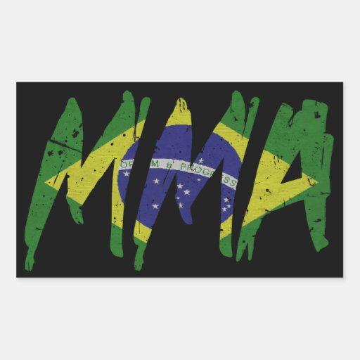 Brazilian Flag MMA Sticker