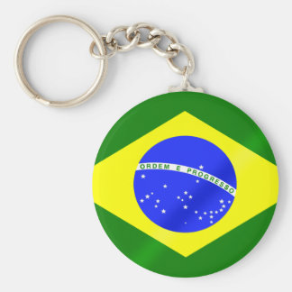 Brazilian flag of Brazil gifts and tees Basic Round Button Keychain
