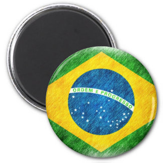 Brazilian_Flag_Pencil_Painting Magnet