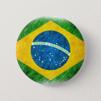 Brazilian_Flag_Pencil_Painting Pinback Button