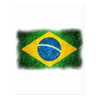 Brazilian_Flag_Pencil_Painting Postcard