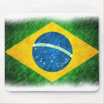 Brazilian_Flag_Pencil_Painting Alfombrilla De Ratón
