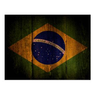 Brazilian flag. postcard