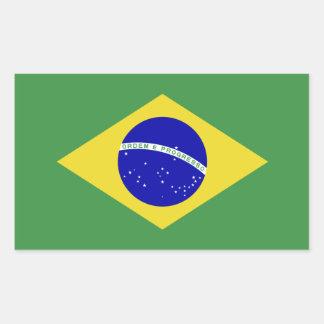 Brazilian Flag Rectangular Sticker