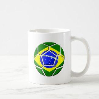 Brazilian flag Samba futebol soccer ball gifts Coffee Mug