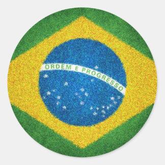 Brazilian_Flag_Se_Painting.jpg Classic Round Sticker