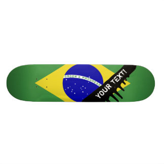 Brazilian Flag Skateboard