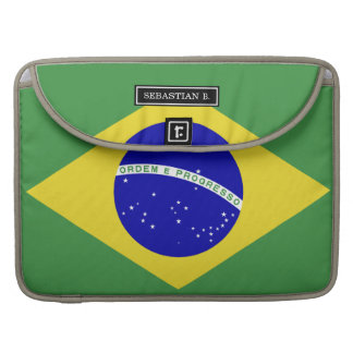 Brazilian Flag Sleeve For MacBook Pro