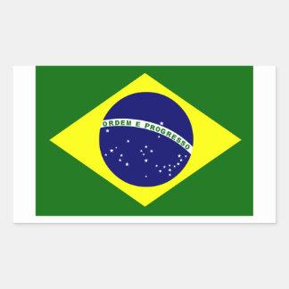 Brazilian Flag Rectangle Sticker