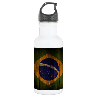 Brazilian flag. water bottle