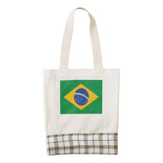 Brazilian Flag Zazzle HEART Tote Bag