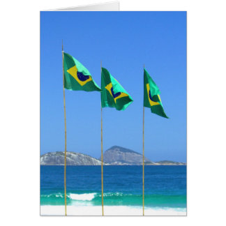 Brazilian Flags Card