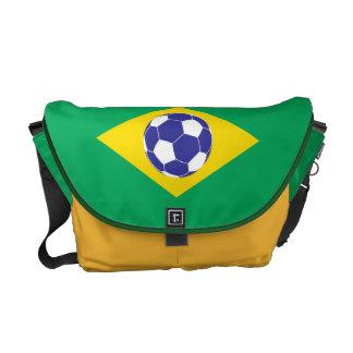 Brazilian Football Flag Messenger Bag