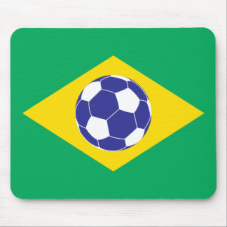 Brazilian Football Flag Mouse Pad