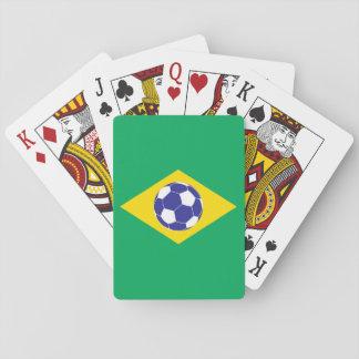 Brazilian Football Flag Deck Of Cards