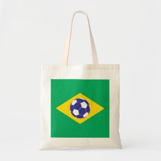 Brazilian Football Flag Tote Bag