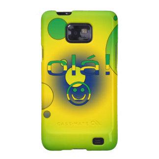 Brazilian Gifts Hello Ola + Smiley Face Samsung Galaxy S Case
