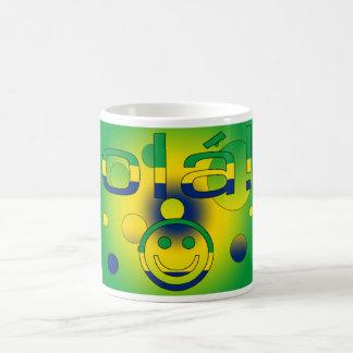 Brazilian Gifts : Hello / Ola + Smiley Face Coffee Mug