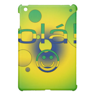 Brazilian Gifts Hello Ola + Smiley Face Case For The iPad Mini