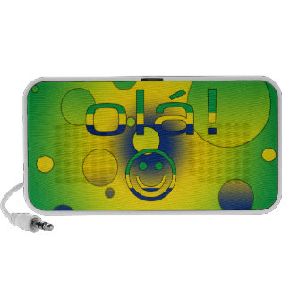 Brazilian Gifts Hello Ola + Smiley Face iPhone Speakers