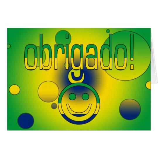 Brazilian Gifts Thank You / Obrigado + Smiley Face Card