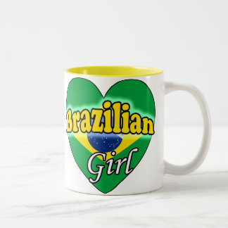 Brazilian Girl Two-Tone Coffee Mug