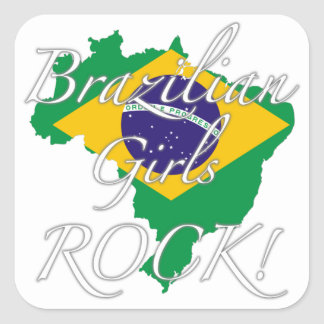 Brazilian Girls Rock! Square Sticker