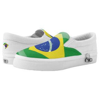 Brazilian glossy flag Slip-On sneakers
